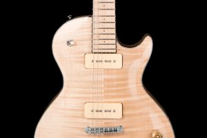 honey-les-paul-custom-acero-marezzato-liuteria